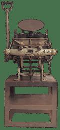 創業当時の印刷機